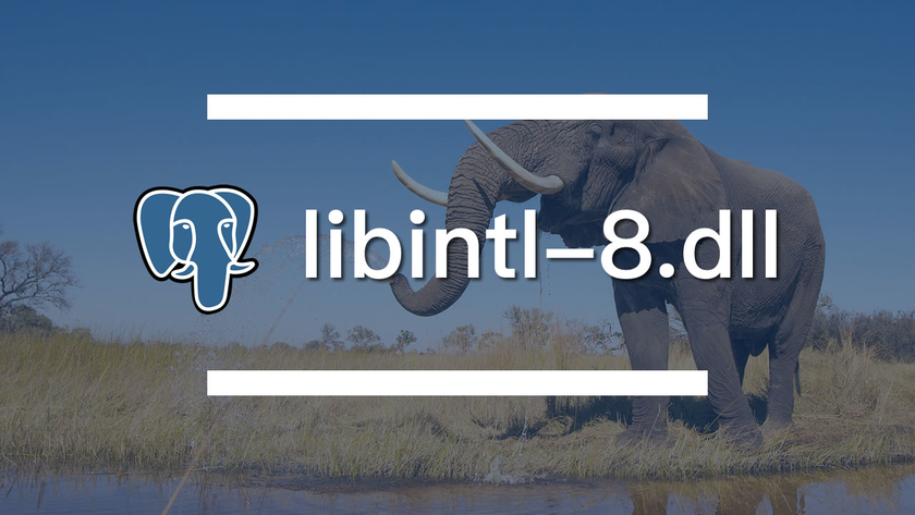 安装 PostgreSQL 时丢失 libintl-8.dll 解决方案